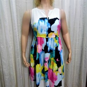 Lane Bryant Watercolor Dress by Lela Rose